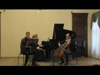 Carl Frühling Trio a-moll für Klarinette, Cello und Klavier \ 2. Anmutig bewegt