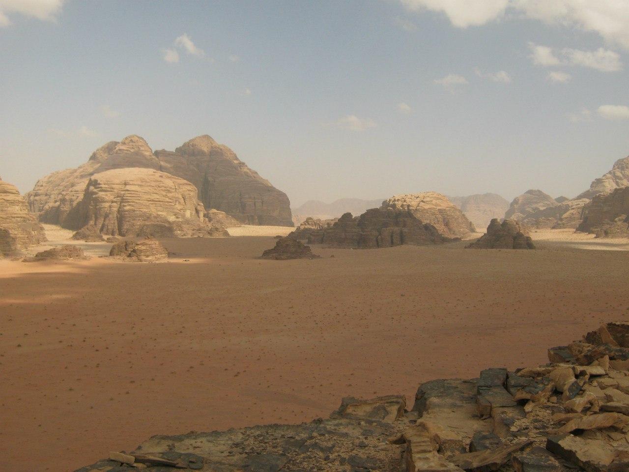 Пустынные пейзажи в Вади Рам