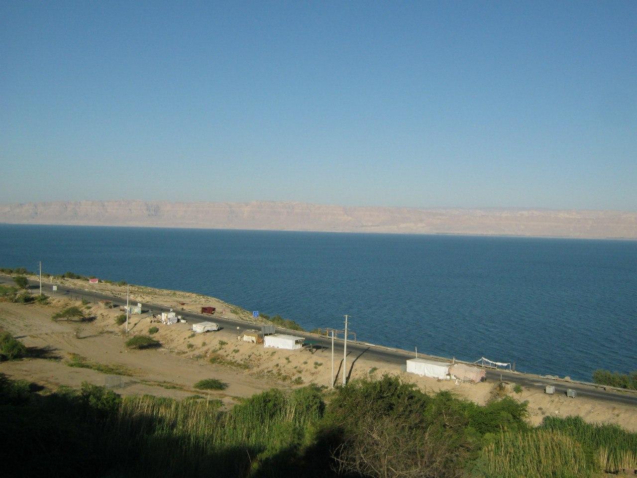 Мёртвое море - как граница между Израилем и Иорданией