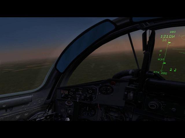 Mig 29a Mel 10 vs F 15c Visual Cockpit Full Realism 22 05 2015