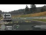 DSK 04.04.2012 Nordschleife Porsche 996 hinter VW Bus T3 mit Porsche Motor