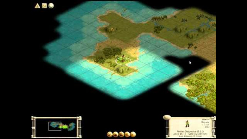 PC Game Civilization III Old Desktop Persians From New Game to Middle Ages