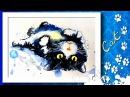 Рисунок РАЗВАЛИВШИЙСЯ КОТ \ Figure lounging cat
