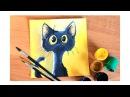 Видео урок Рисуем классного котика