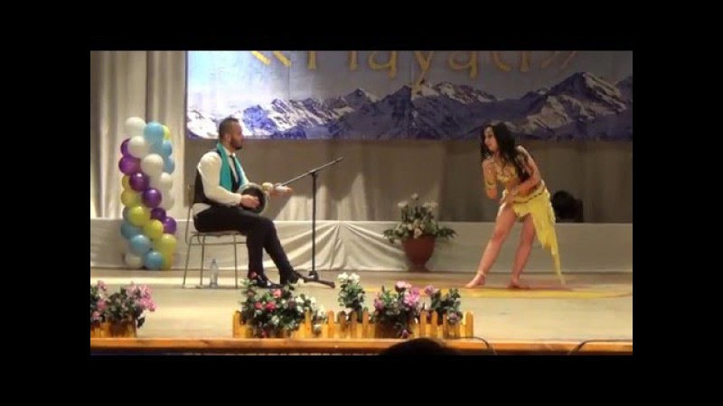 Ignatenko Ekaterina with Orhan Ismail tabla improvisation Almaty 2016