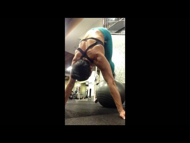 Супер тренировка пресса на мяче /shredded abs workout with an exercise ball