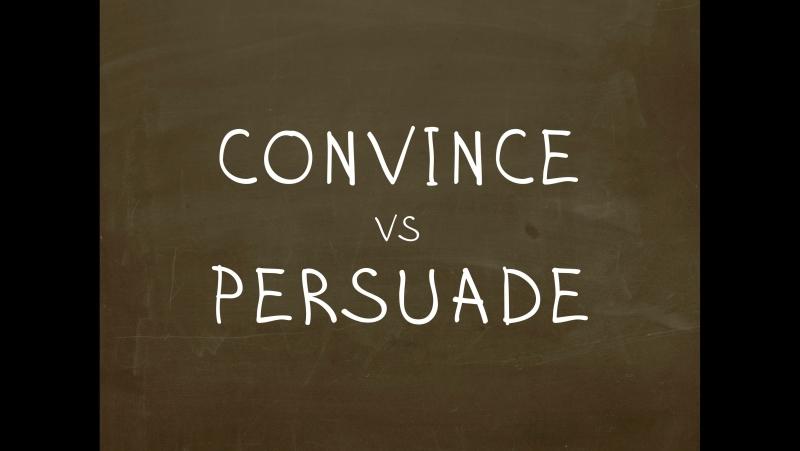 Какая разница между Convince и Persuade Простой Английский