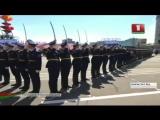 Плац-концерт сводной роты почетного караула на параде Победы в Минске 9 мая 2015 (1)