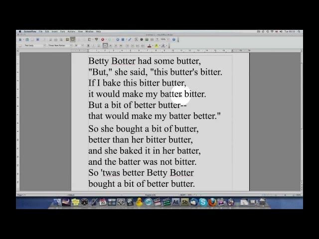 Betty Botter SLOW