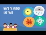 What's The Weather Like Today  Song Lyrics Video for Kids  The Kiboomers