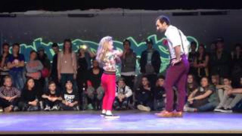 United Dance Open 2015. Waacking. 1/2. Kulagina Arina vs Mambetov Alan.