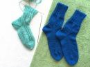 Вязание носки от мыска на двух спицах без шва / Knitting socks on two needles without seam