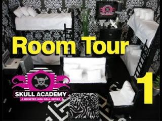 Monster High Ghouls Dorm Room 1 Tour #monsterhigh #roomtours