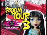 Monster High Ghouls Dorm Room 3 Tour Skull Academy #monsterhigh #roomtours
