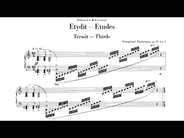 Einojuhani Rautavaara - Etudes (1969)