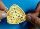 Вязание крючком - Урок 208 - Как вязать треугольник 1 crochet