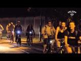 В Минске прошла массовая ночная велопрогулка