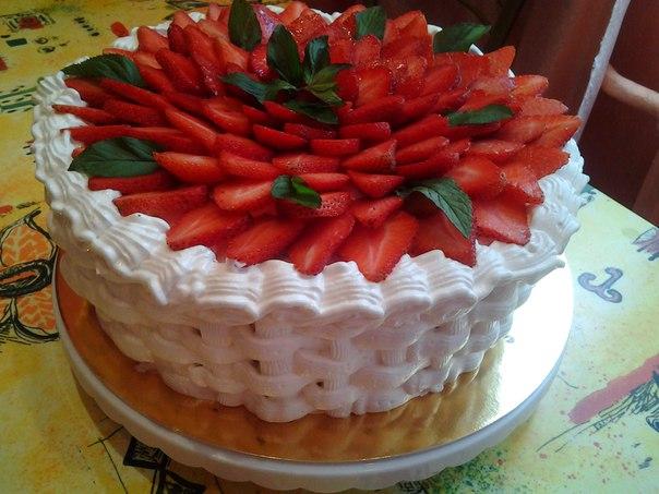 Как украсить торт из крема фото