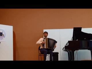 Мурат Кабардоков - Прелюдия и фуга для кавказской гармоники (Исполняет Юнус Блягоз)