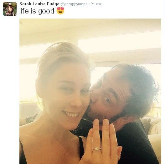 Марк Шеппард помолвлен на Сарре Фудж! Поздравления!