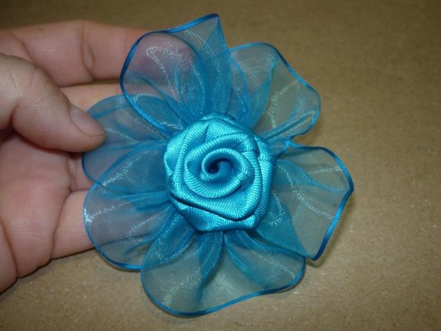 Flor,florcinta,moño, Tutorial paso a paso Flor Elegante cinta organza para el cabello