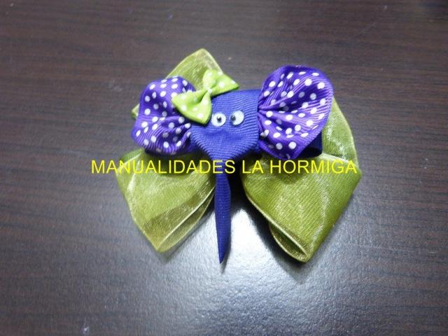 Clips Elefantes Cinta para decorar Moños para el Cabello, Bows for Girl
