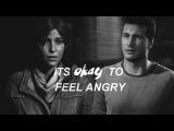 Lara Croft x Nathan Drake  It's okay to feel angry HBD Flora