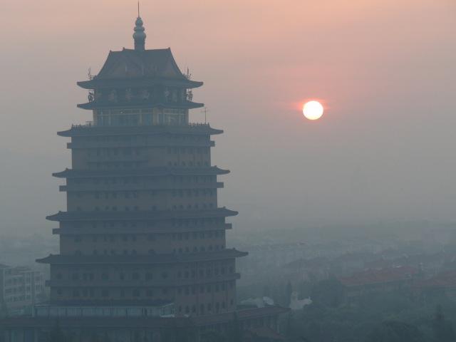 деревня Хуаси, деревня миллионеров, Китай, Village of Huaxi, China, Chinese millionaires, Aerotower