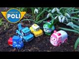 Машинки из мультика Робокар Поли и история с подснежниками Развивающее видео с машинками Robocar Po