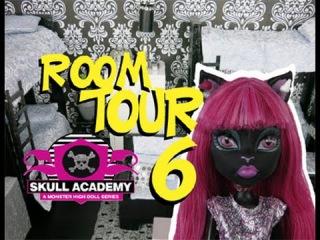Monster High Ghouls Dorm Room 6 Tour Skull Academy #monsterhigh #roomtours
