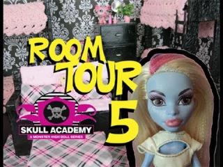 Monster High Ghouls Dorm Room 5 Tour Skull Academy #monsterhigh #roomtours