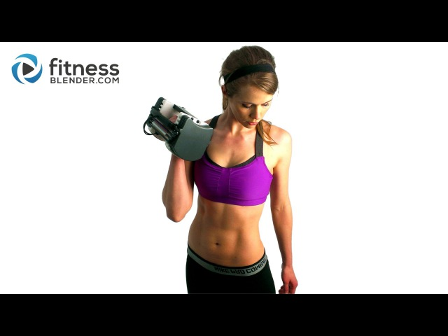40 Minute Fat Blasting Total Body Strength Training and Toning Workout with FitnessBlender.com
