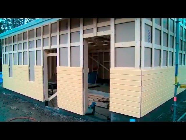 Каркасный гараж по финской технологии