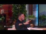 Drake getting scared on Ellen