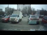 Авария Портер vs Трамвай на регистратор