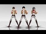Вторжение титанов - Talk Dirty (( Атака на титанов ) MMD MikuMikuDance)