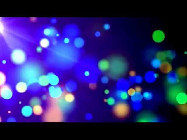 Разноцветные частицы HD ВидеоФон