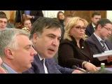 Конфликт  Саакашвили с Яценюком и Аваковым. Аваков бросает стакан с водой