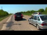 Чеченская свадьба,авария и разборки на дороге