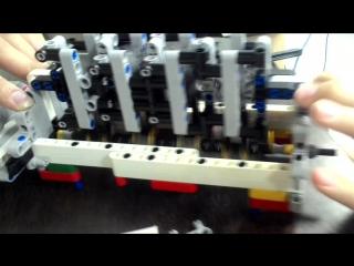Модель блока двигателя внутреннего сгорания из LEGO Mindstirms (с комментариями)