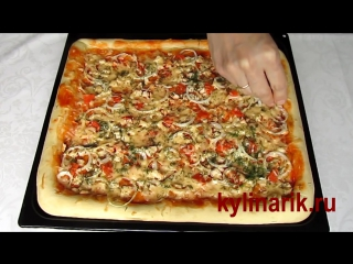 Тонкое тесто на пиццу - 8 лучших рецептов тонкого теста ...