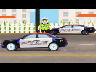мультик полицейская машинка ловит бандитов