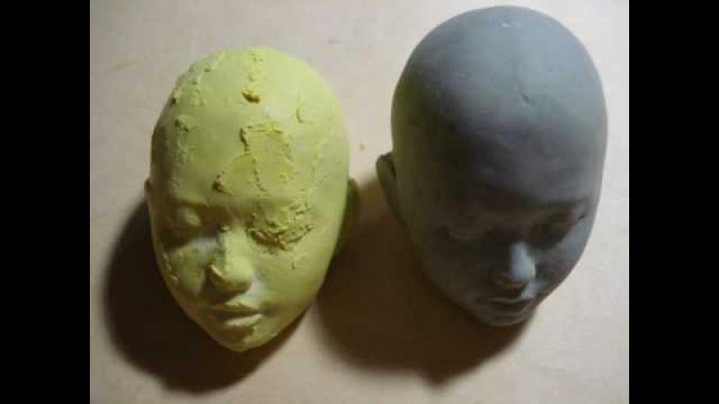 【12インチ関節人形の頭部制作風景09】 Making of an original 12inches doll head