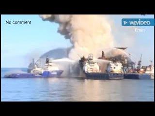 The tragedy on an oil platform. Трагедия на нефтяной платформе. Günəşli yatağında faciə