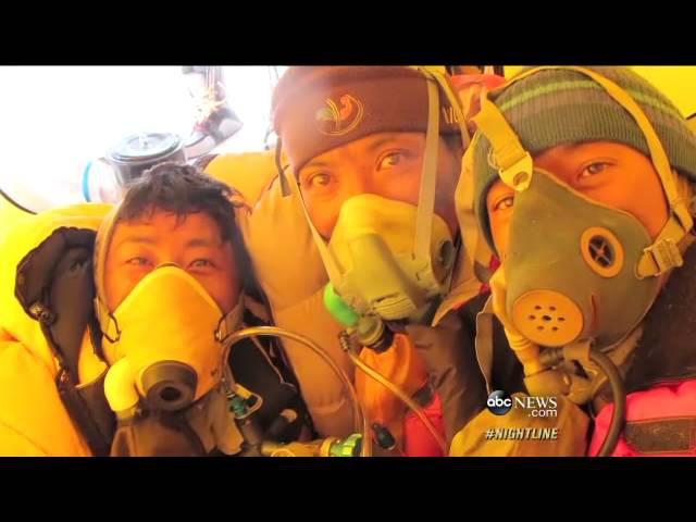 Sano BABU Sunuwar Ultimate Descent Paragliding off Everest Video- ABC News
