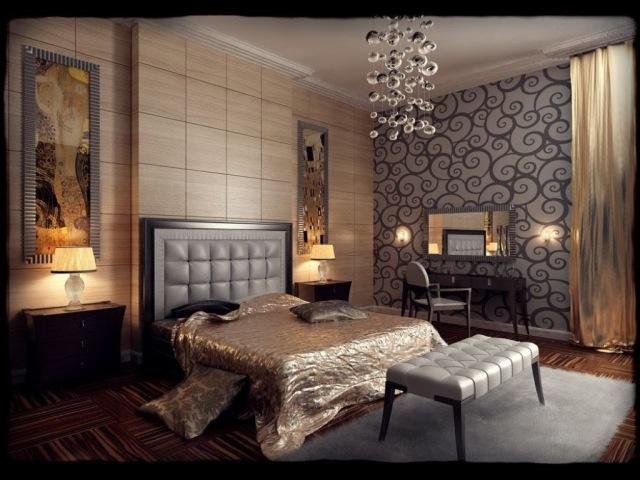 Дизайн интерьера. Спальня в стиле арт-деко