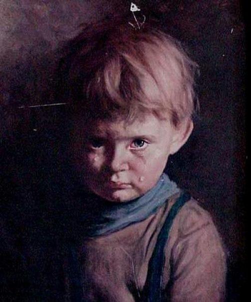 Przeklęte obrazy - płaczący chłopiec, przeklęty obraz chłopca