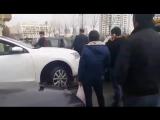 В Баку эвакуатор дорожной полиции врезался в автомобиль.| АЗЕРБАЙДЖАН , AZERBAIJAN , AZERBAYCAN , БАКУ, BAKU , BAKI , 2016