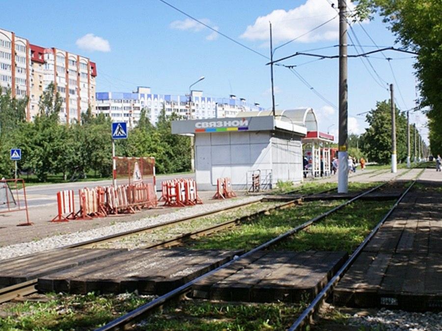На улице Тихая аллея в Нижнекамске начался ремонт трамвайных путей