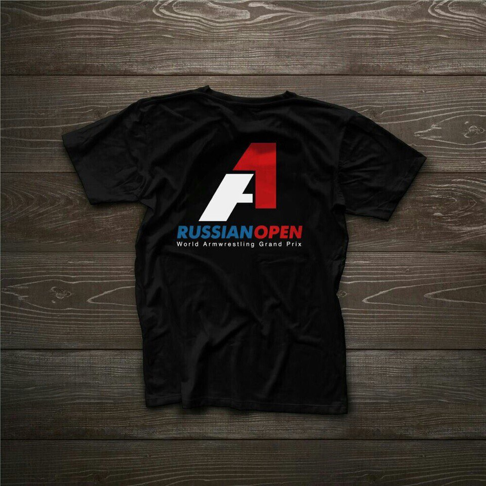 A1 Russian Open 2015 Vladikavkaz, T-shirt back image│ Image Source: Armwrestling Federation Moscow